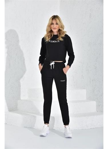 Rodi Jeans Rodi Kadın Female Baskılı Crop Eşofman Takım Rd21Yb667000 Siyah